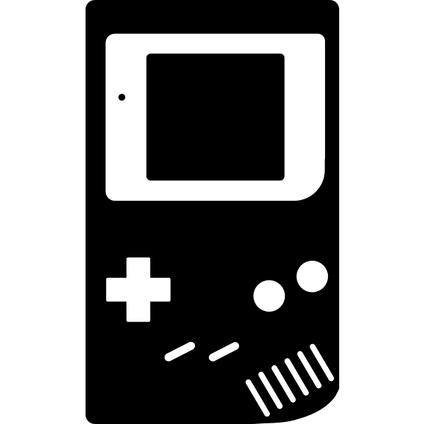 Gameboy silhouette