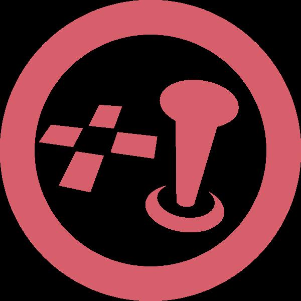 PC games icon vector illustration