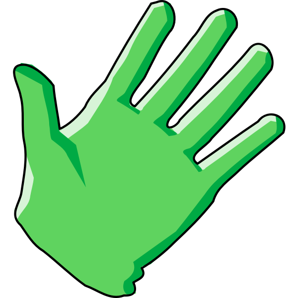 Domestic cleaning glove vector illustration