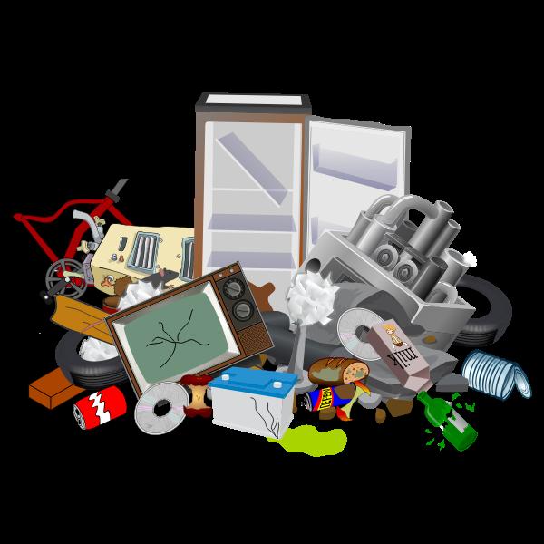 Garbage dump site
