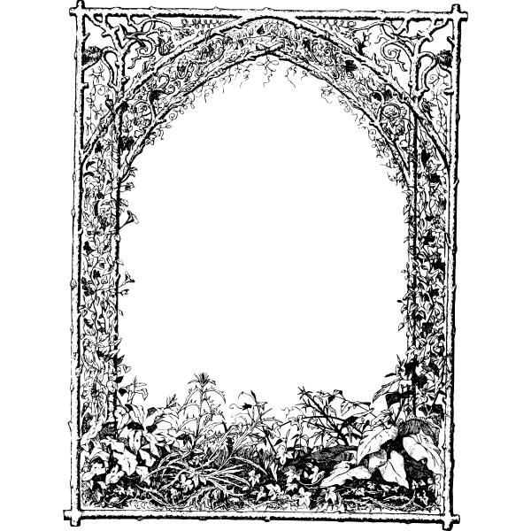 Vector image of a garden frame