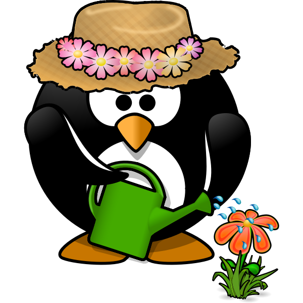 Penguin gardener