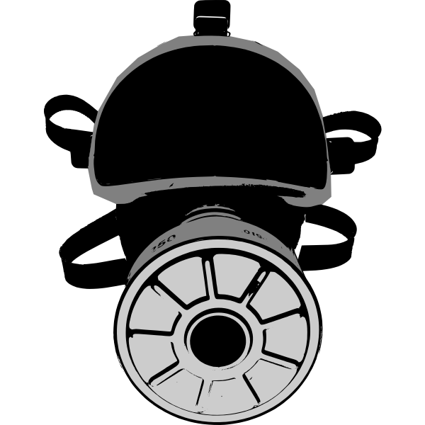 Protective mask vector image