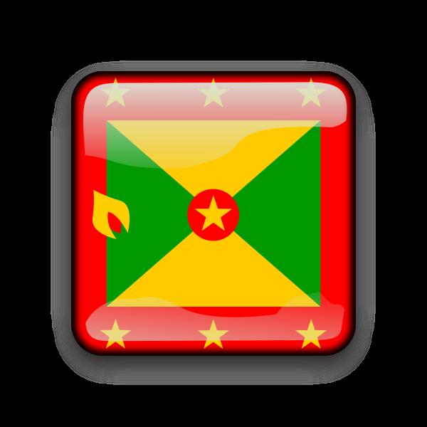 Grenada flag button