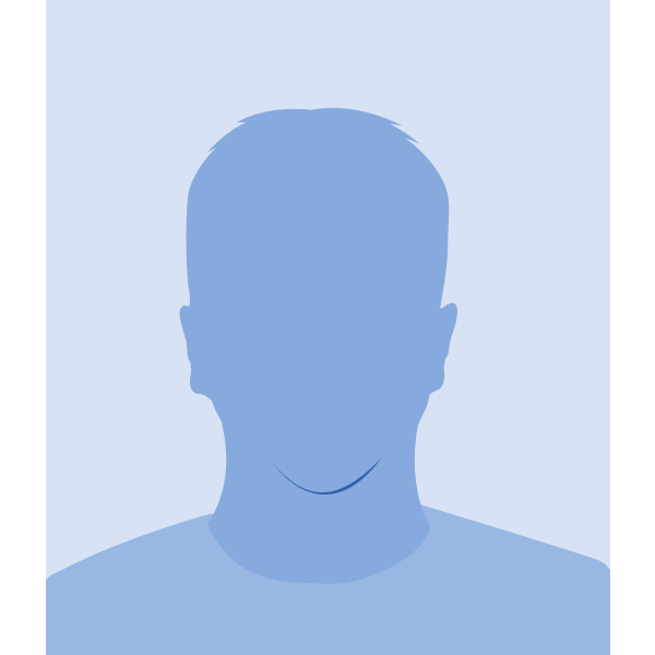 Blank male avatar vector image