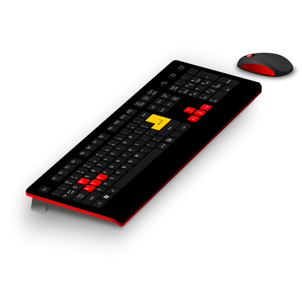Generic gaming keyboard and mouse vector image