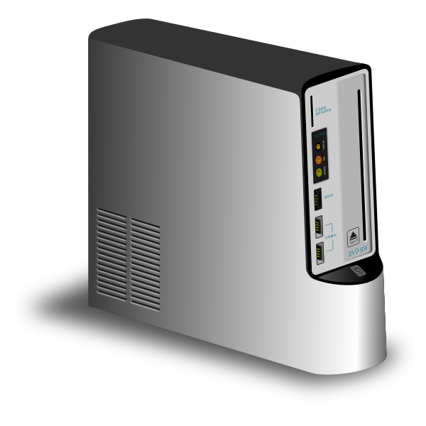 Computer CPU vector image