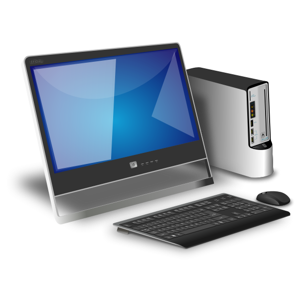 Desktop computer vector illustration