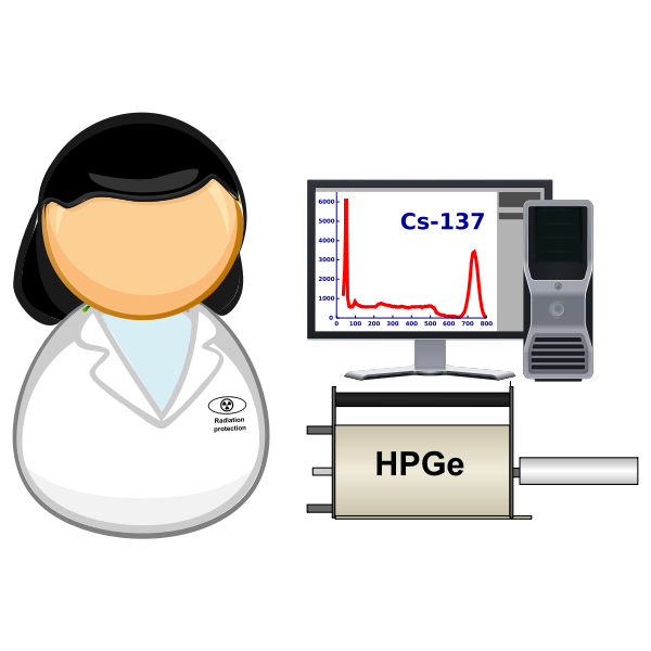 Spectrometrist in lab