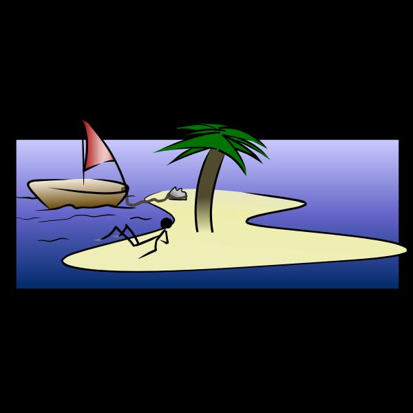 Desert Island Stick-Figure