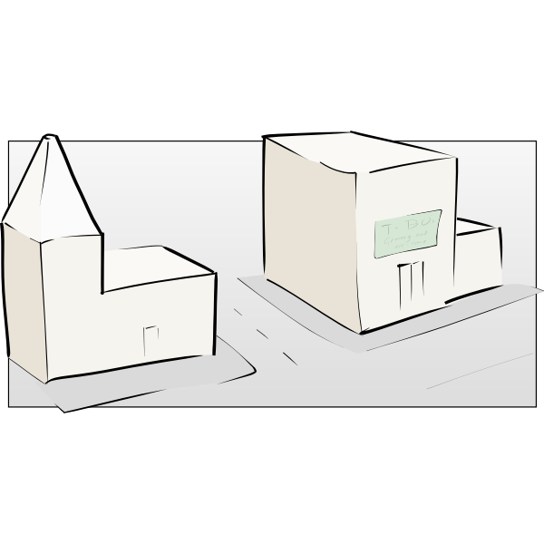 Street sketch vector image
