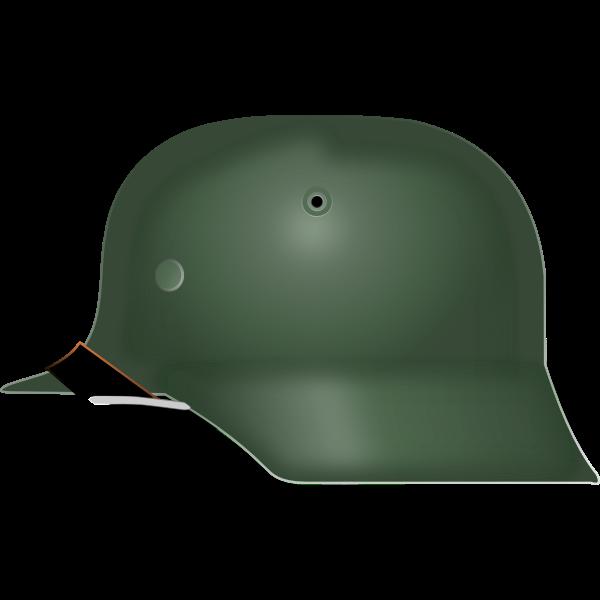 Vector graphics of German Stahlhelm from World War II
