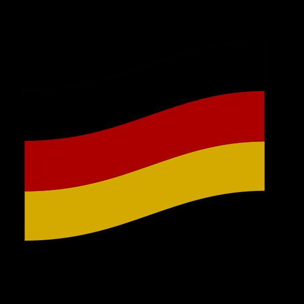 German flag vector drawing
