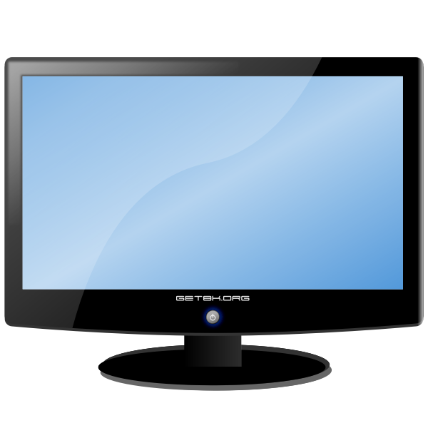LCD widescreen monitor vector drawing