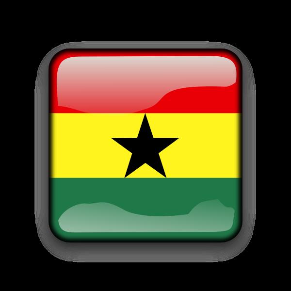 Ghana country flag button