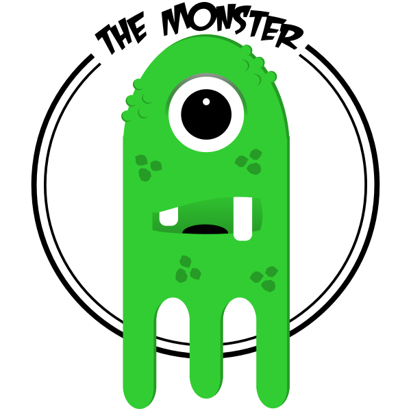 Green funny ghost