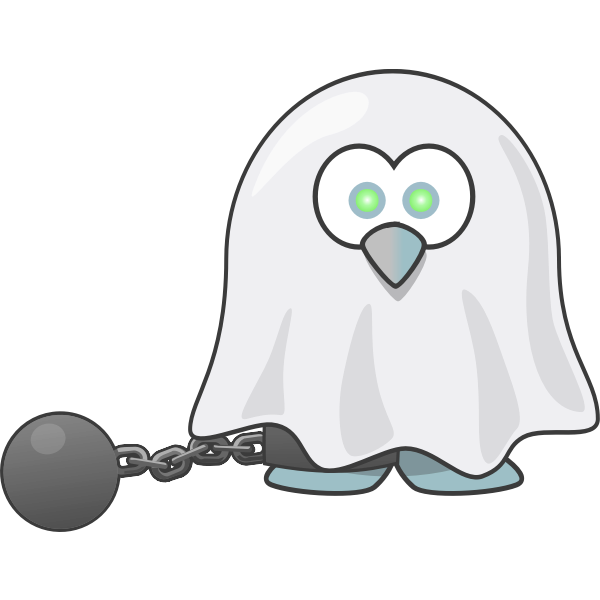 Penguin ghost vector drawing
