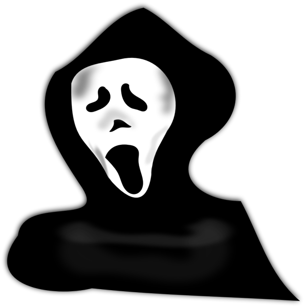 Vector image of ghost under hood