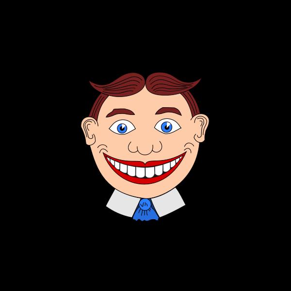 Vector clip art of clown