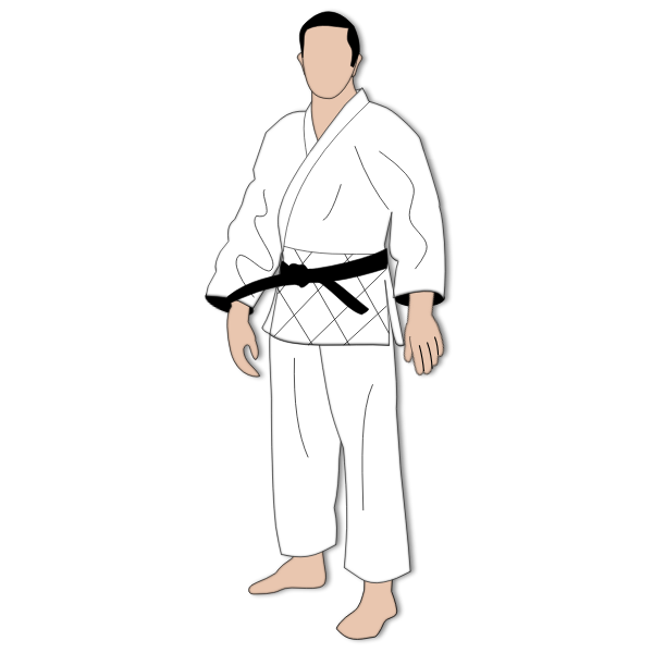 Faceless man in kimono vector drawing