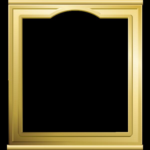 Vector illustration mirror in golden frame