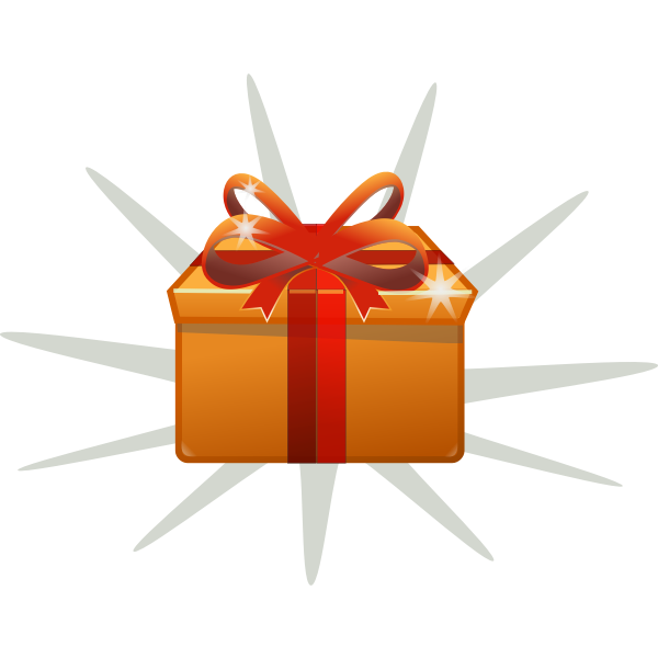 Vector drawing of gift box