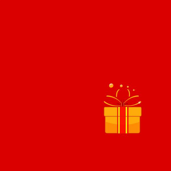 Christmas gift vector graphics