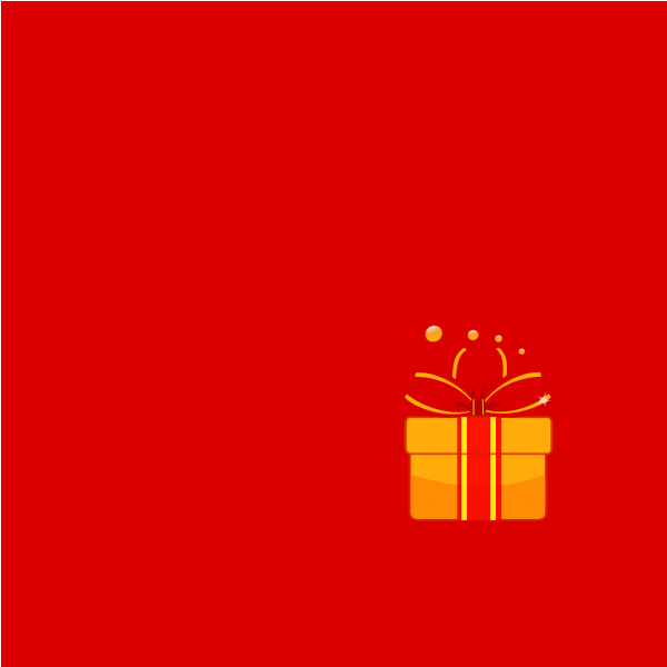 Christmas gift vector graphics