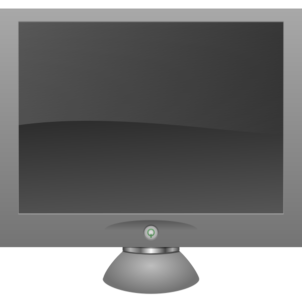 LCD screen with shadow vector graphics