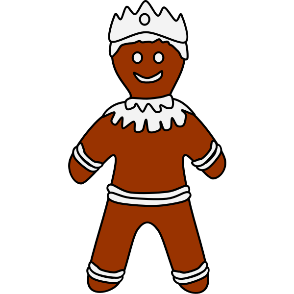 Gingerbread cookie in male shape