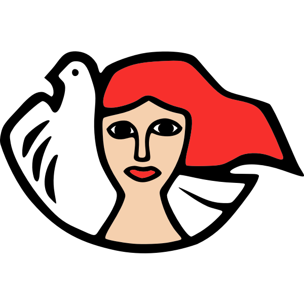 girl dove peace