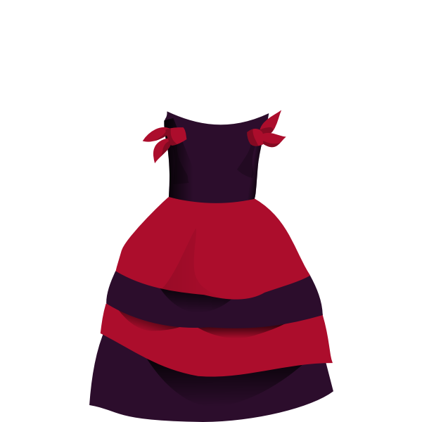 Cartoon dress vector