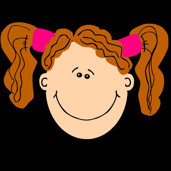 girl ginger pigtails