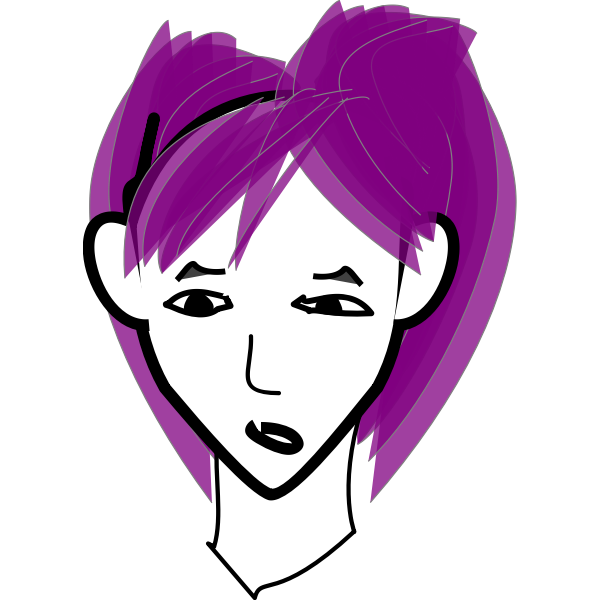 Girl with purple hair-1571736696