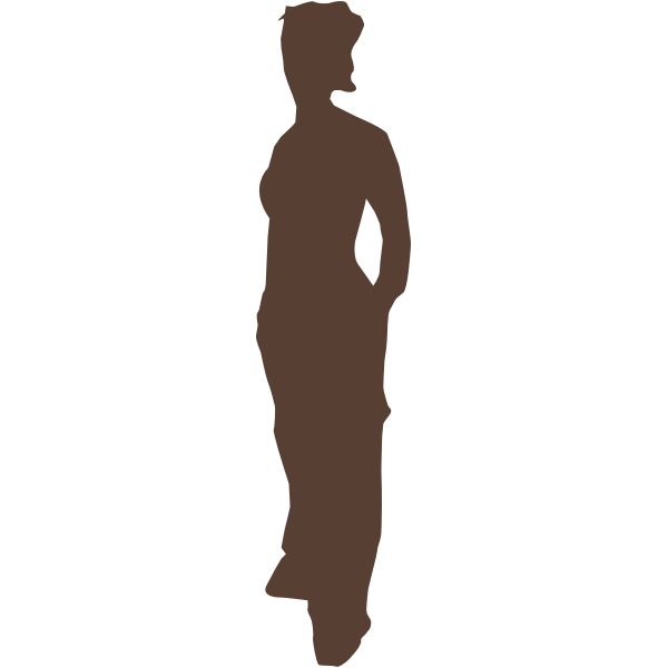 Silhouette of lady vector graphics