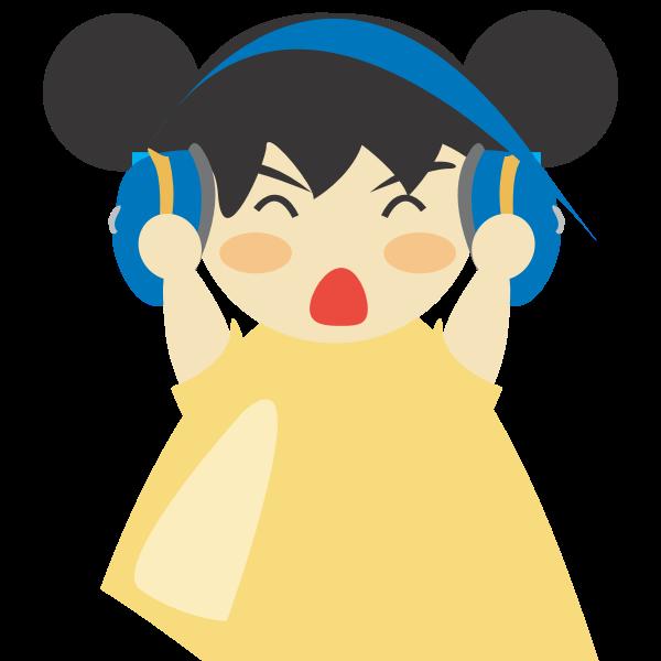 Girl with headphones vector illustrtaion