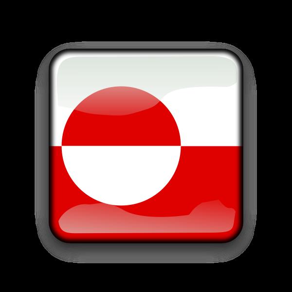 Greenland flag button