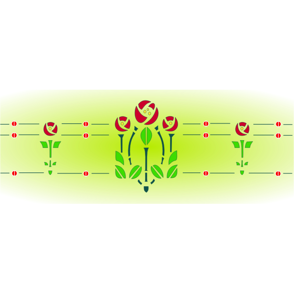 Roses on a green background illustration
