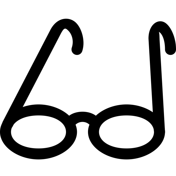 Eyeglasses vector silhouette