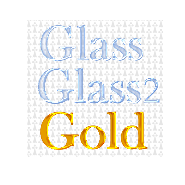 Vector drawing of glass and gold filters text
