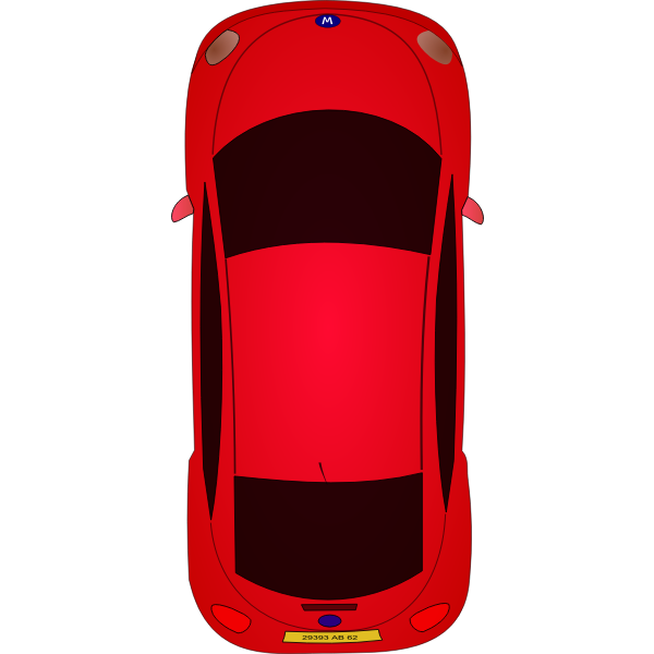 Red car vector art
