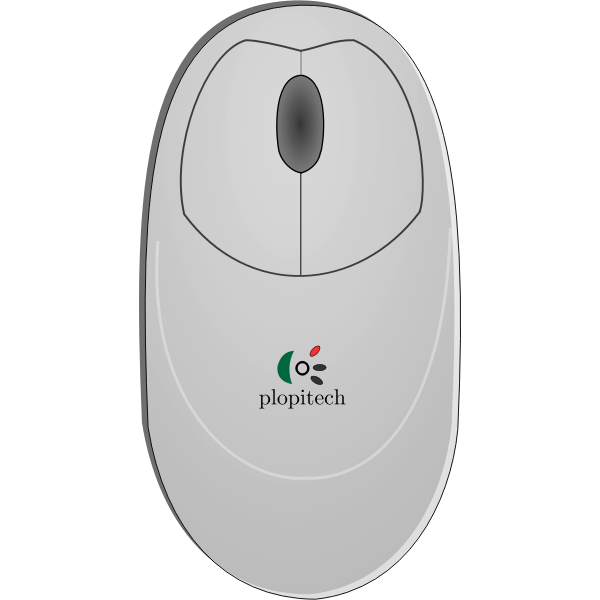 Vector clip art of computer mouse