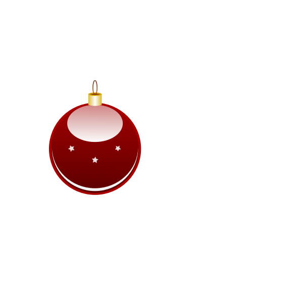 Glossy red Christmas ornament vector clip art