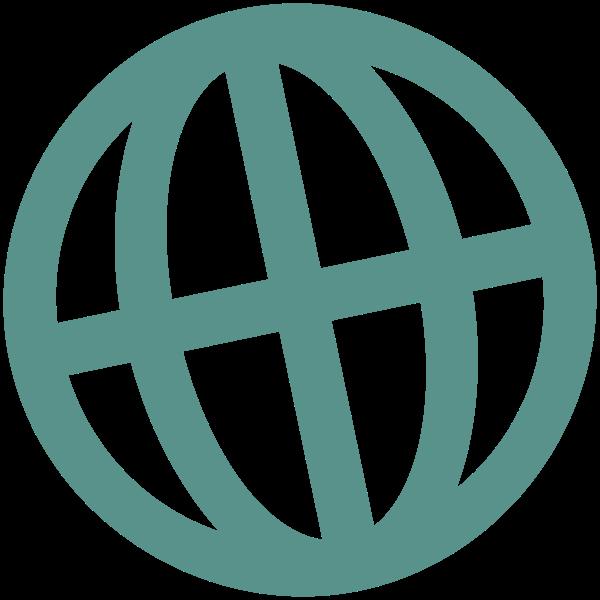 Internet globe symbol