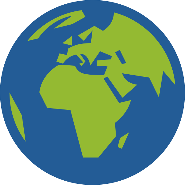Globe facing Europe and Africa vector illustration