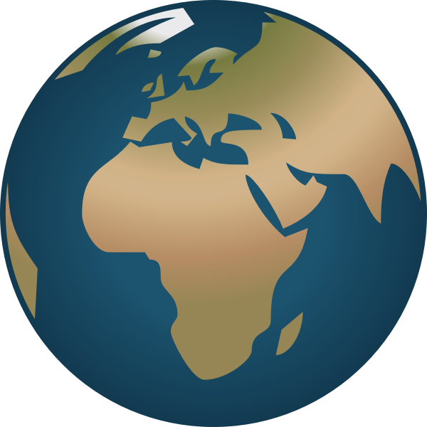 Simple Globe facing Europe and Africa vector illustration