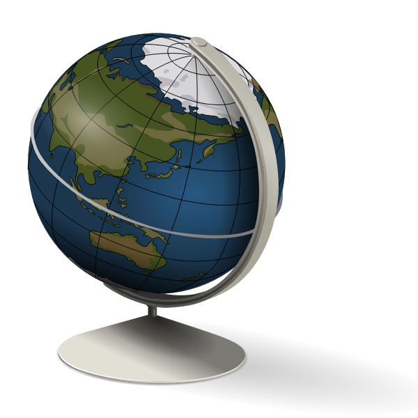 Desk globe vector graphics