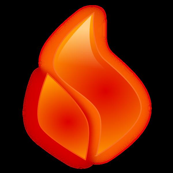 Vector clip art of flame