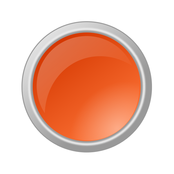Red button in gray frame vector illustration