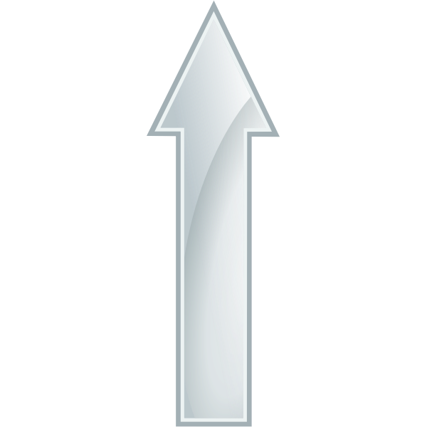 Glossy white arrow vector drawing